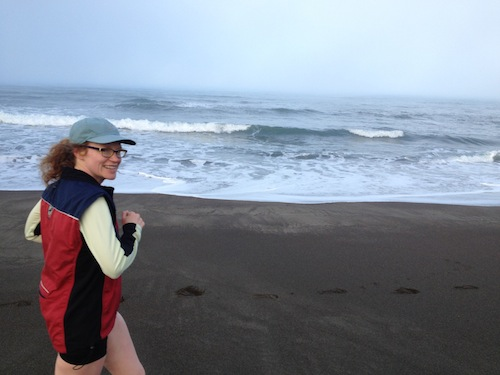 Running on Pacific Coast